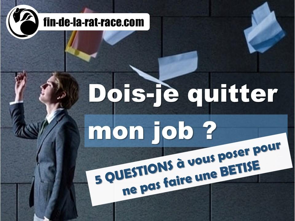Sortir de la Rat Race : quitter son job ou le garder ?