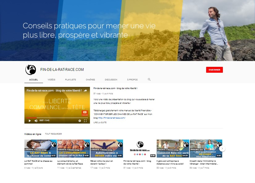 Chaîne Youtube : liberté financière et frugalisme