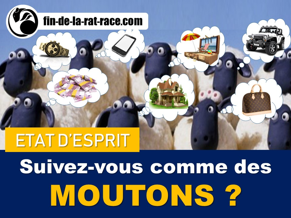 Sortir de la Rat Race : suivez comme des moutons ou dépassez la vanité…